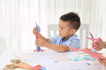 Making paper rocket