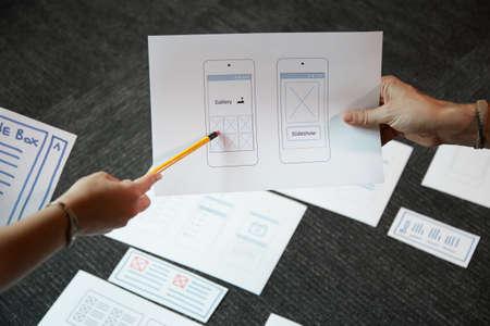 Hablar sobre la interfaz de la aplicación móvil