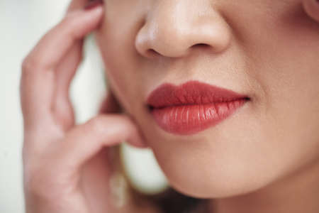 Beautiful lips Stock Photo