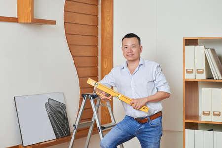 Carpenter at work Stockfoto