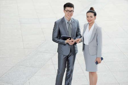 Asian business executives