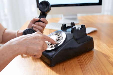 Senior woman making phone call