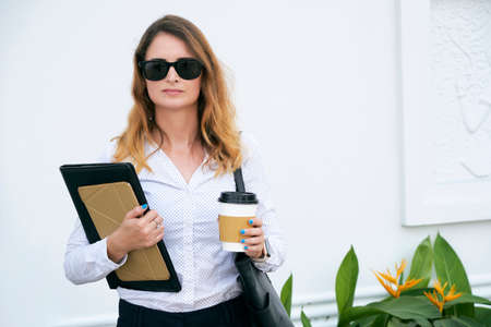 Business lady in sunglasses