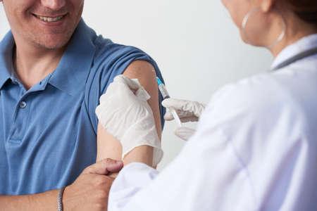 Patiënt vaccineren Stockfoto