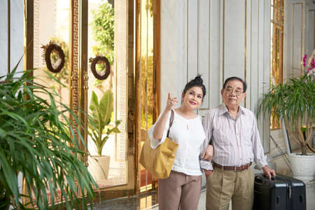 Couple in luxurious hotel
