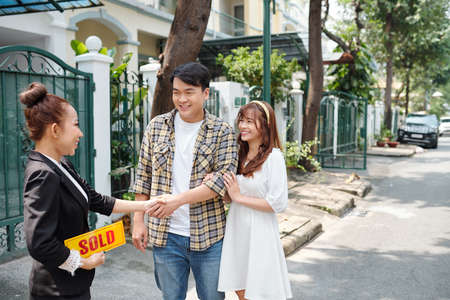 Couple buying first house