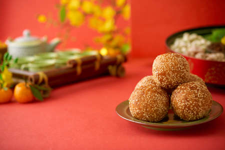 Fried rice balls for Lunar New Year