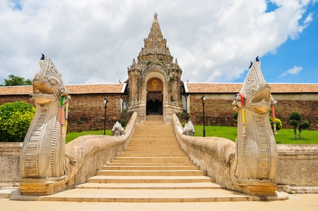 ancient near east: Arch Phra That Lampang Luang Thailand Stock Photo