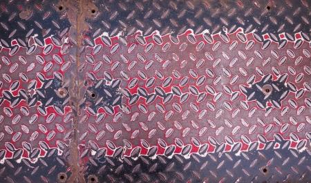 Aluminium dark list with rhombus shapes Stock Photo - 22083807