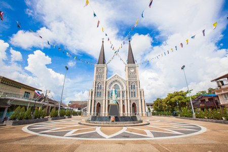 CHANTHABURI - JUNE 15 : Old cathedral of the Immaculate Conception on June 15, 2014 in Chantaburi, Thailand. It was built over 300 years old and became the landmark of Chanthaburi nowaday.public