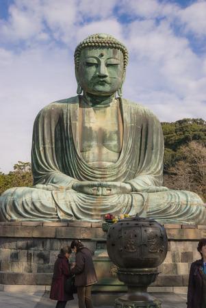 Famous big bronze Buddha in Kamakura, Honshu, Japan, buddhistic symbol Editorial