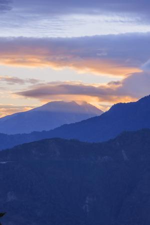 formosa: Sunrise over Alishan Range at Xiding, Alishan National Park, Taiwan Stock Photo