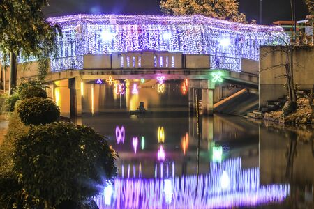 renovated: funny night bridge swam