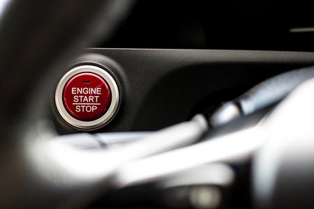 car start stop button modern Stock Photo