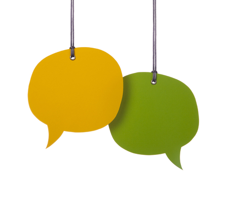 Hanging blank speech bubble