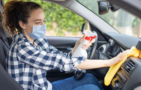 Disinfection surfaces in the car from disease