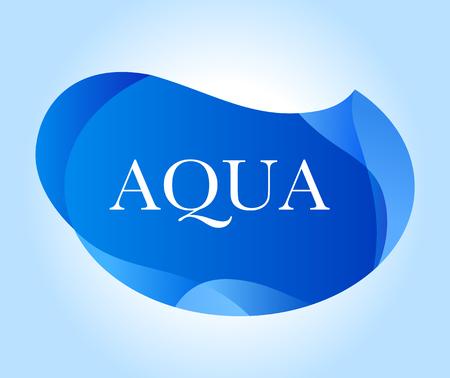 Aqua inscription on blue abstract design.  イラスト・ベクター素材