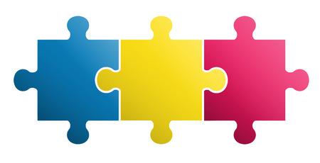3 stuks puzzel ontwerp