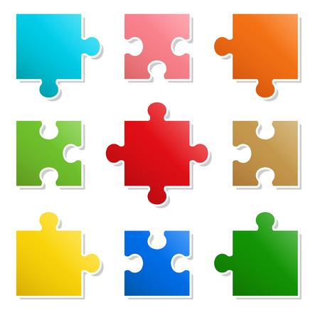 9 pieces Puzzle design
