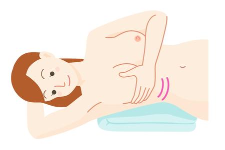Self-palpation cancer Vektoros illusztráció