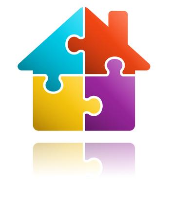 Puzzle-Haus-Symbol
