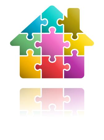 Puzzle House icon Ilustrace