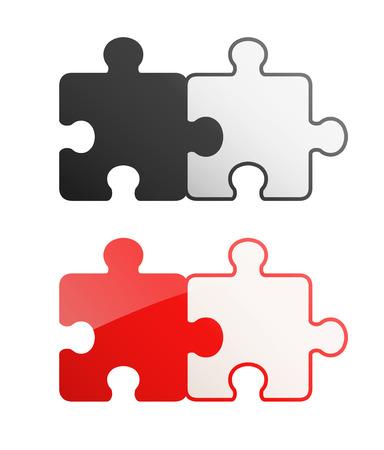2 pieces Puzzle design set