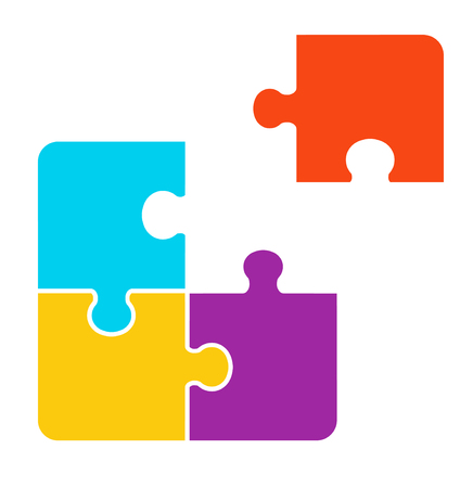 1 + 3 pieces Puzzle design