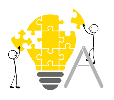 People who build light bulb puzzles