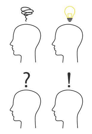 Human Face and various sign set