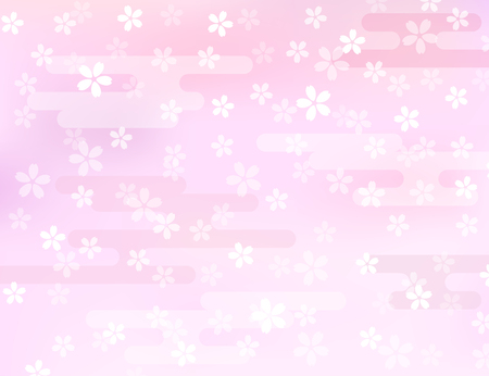 Cherry ornament background Illustration