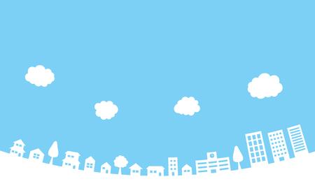 Paysage urbain Matériel de référence (rond)