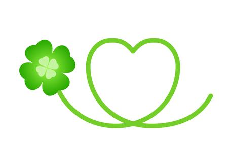 Energy Clover heart Logo Illustration