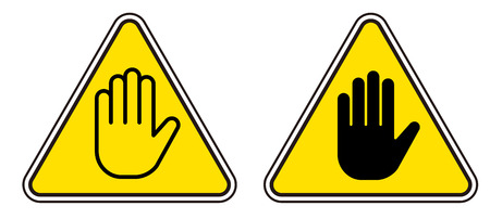 Signs off limits set Stock Vector - 115793885