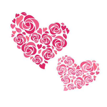 Heart shaped flower decoration