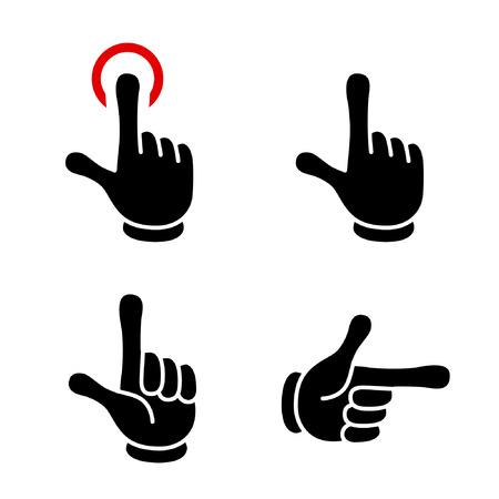 hand sign icon set-Cartoon tast-(designate/good/okay) Stok Fotoğraf - 117191057
