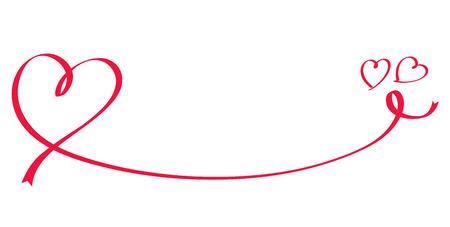 Heart shaped red ribbon
