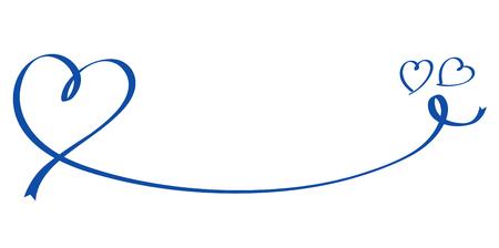 Heart shaped blue ribbon Illusztráció