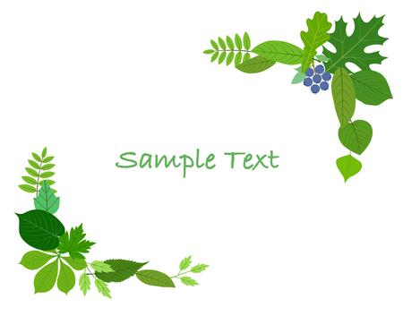Leaf decoration frame Ilustracja