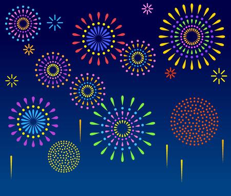 Fireworks in the night sky Stock fotó - 118883840