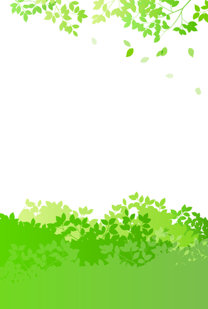 Fresh green and sun leaves background material  イラスト・ベクター素材