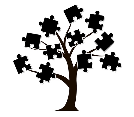 Tree icon and puzzle piece