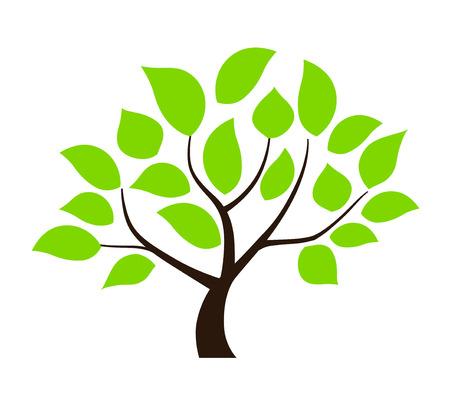 Green leaf tree illustration