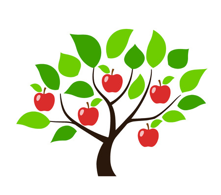 Apple tree illustration Foto de archivo - 118884493