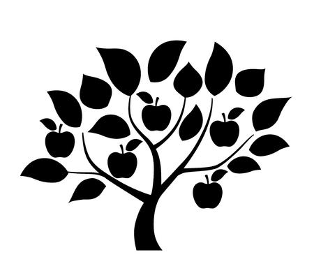 Apple tree illustration Foto de archivo - 118884518