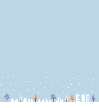 Snow and cityscape