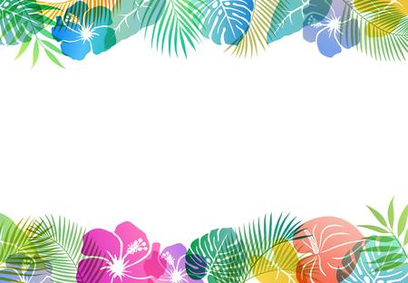 Summer tropical image Background material Vektoros illusztráció
