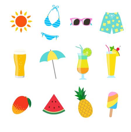 Summer sea food and drink