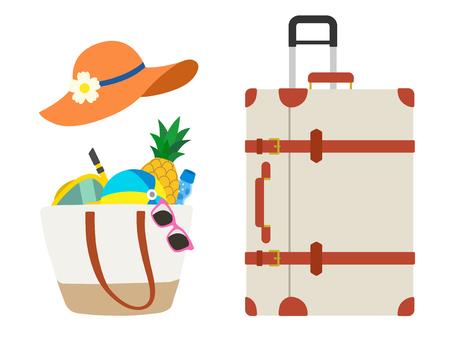 Summer vacation travel set