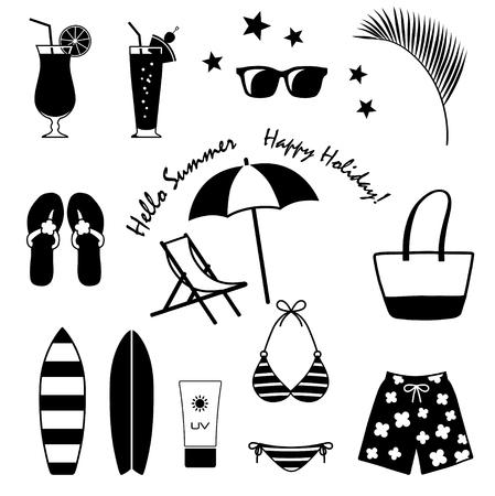 Summer food and drink Illustration